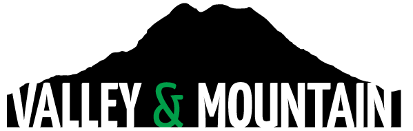 a black icon of a mountain that says Valley & Mountain below it