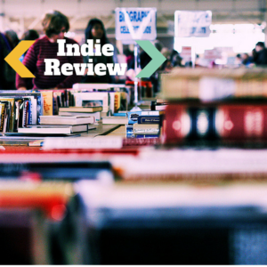 Indie Review written on a photo of a book sale